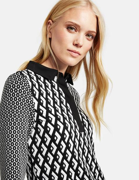 Kleid aus Struktur-Jersey