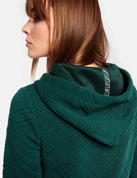 Hoodie-jurk met ruitstructuur