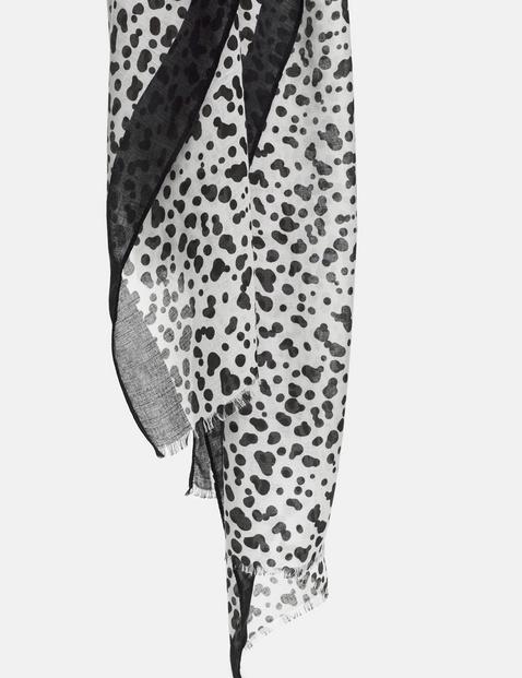 Scarf with Dalmatian print