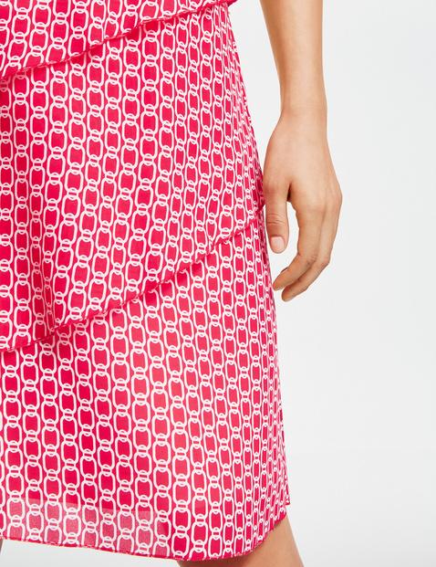 Asymetrycznie stopniowana spódnica