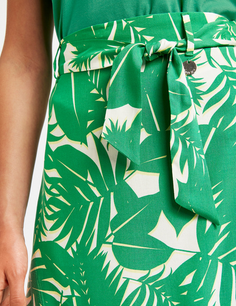 Summer skirt with a wrap-over effect
