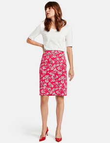 3 Dresses Short Sleeve Shirts /& Leather-Like Skirts in White Red /& Pink