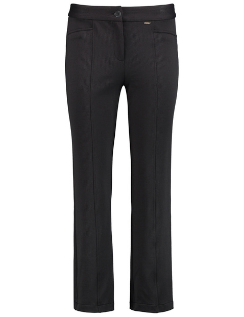 7/8-length, kick flared, stretch trousers