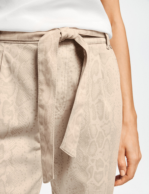 Paperbag trousers with snakeskin print, Lounge Trousers TS