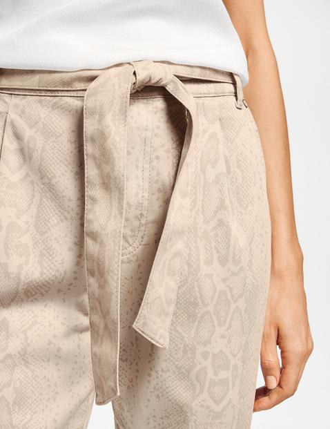 Spodnie w stylu paperpag z nadrukiem wężowej skóry Lounge Pants TS