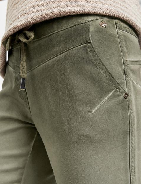 Spodnie domowe o dł. 7/8 barwione metodą cold pigment dye