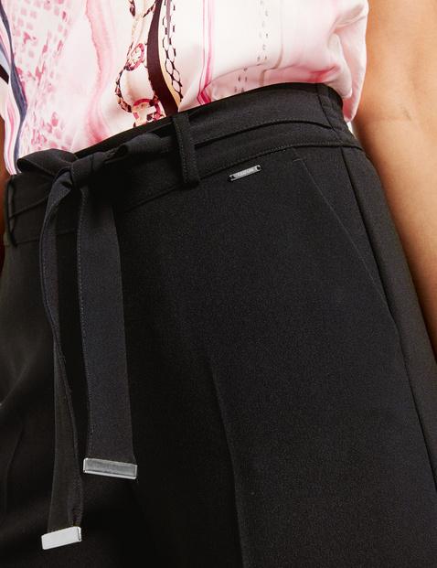 Culottes with tie-around belt, Wide Leg High