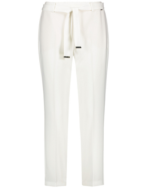 Spodnie o dł. 7/8 z wiązanym paskiem, Slim Peg Leg