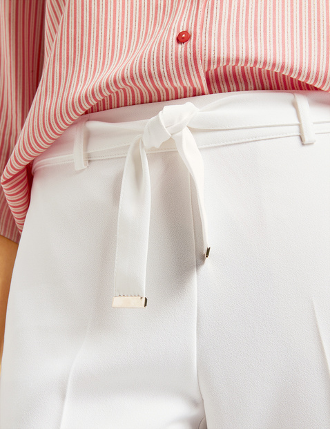 7/8 trousers with tie-around belt, Slim Peg Leg