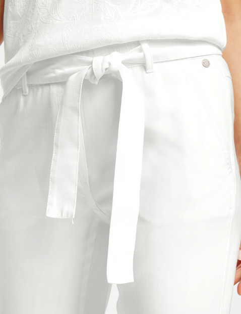 Lounge trousers TS, with a tie-around belt
