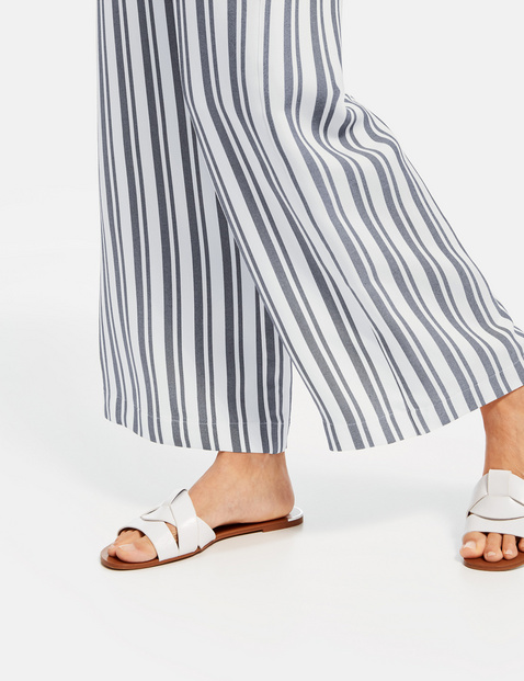 Wide leg, high-rise Palazzo trousers with a striped pattern
