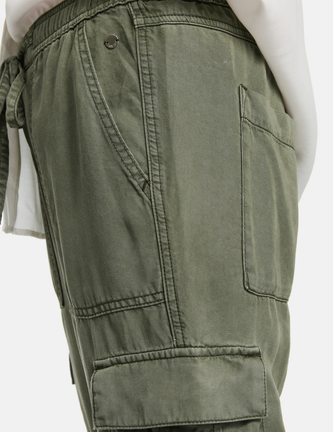 Cargo-Hose aus Lyocell Lounge Pants TS