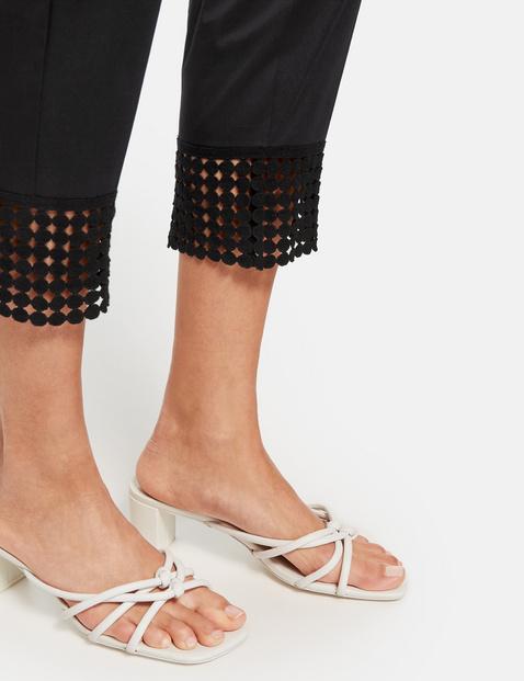 Spodnie chino z koronką Slim Peg Leg