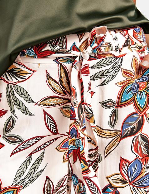 Spodnie palazzo w kwiatowy wzór, Wide Leg High