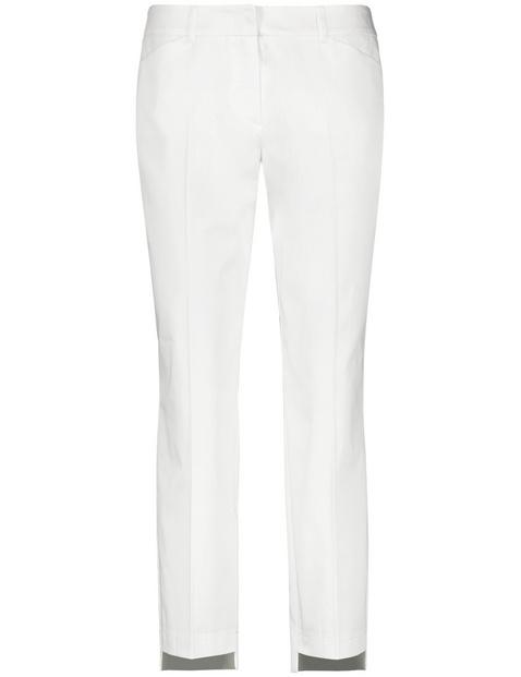 Spodnie o dł. 7/8 z dłuższym tyłem, Slim Peg Leg