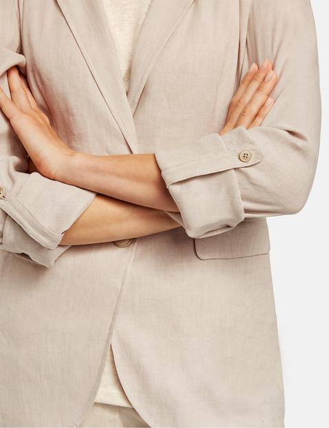 Blended linen blazer