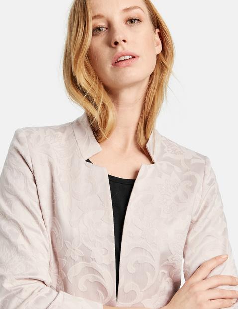 Long fine jacquard blazer
