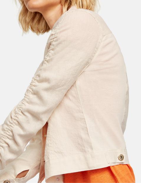 Sporty linen jacket