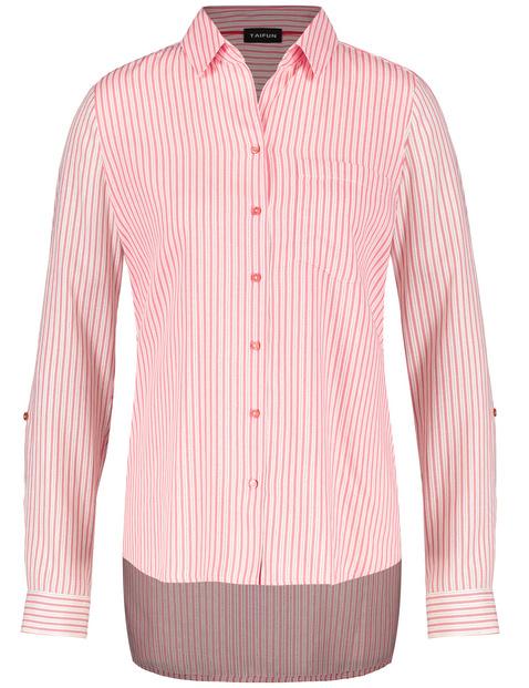 Gestreepte blouse met glanseffect