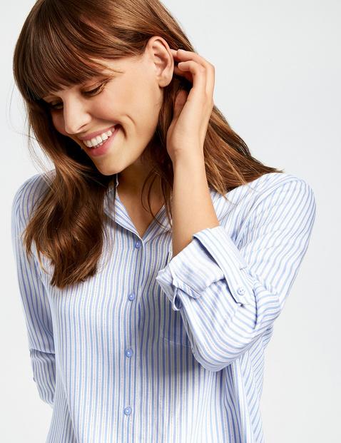 Streifen-Bluse mit Glanz-Effekt