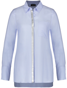 "ladies long sleeved white  security shirt 13/"" collar"