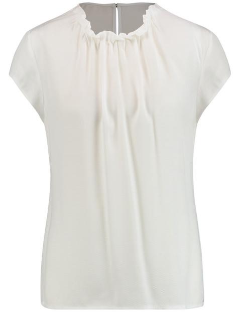 Blouseachtig shirt met gerimpelde halslijn