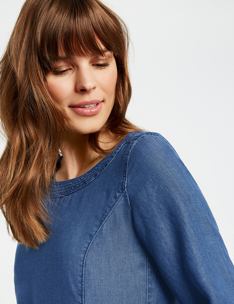 Denim-look tunic