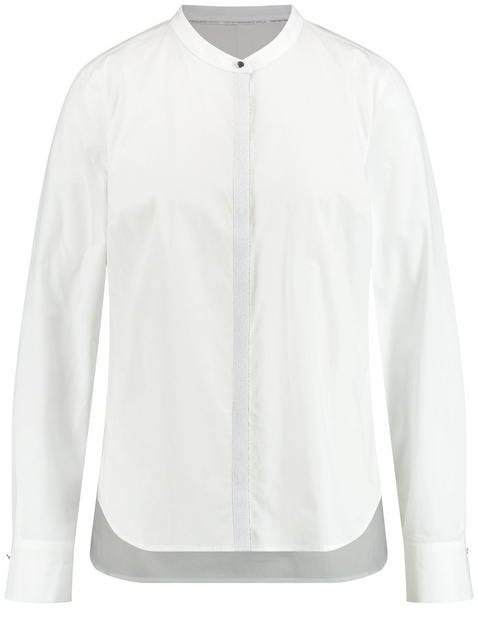 Baumwoll-Bluse mit Glitzer-Knopfleiste
