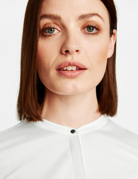 Cotton blouse with a glittery button placket