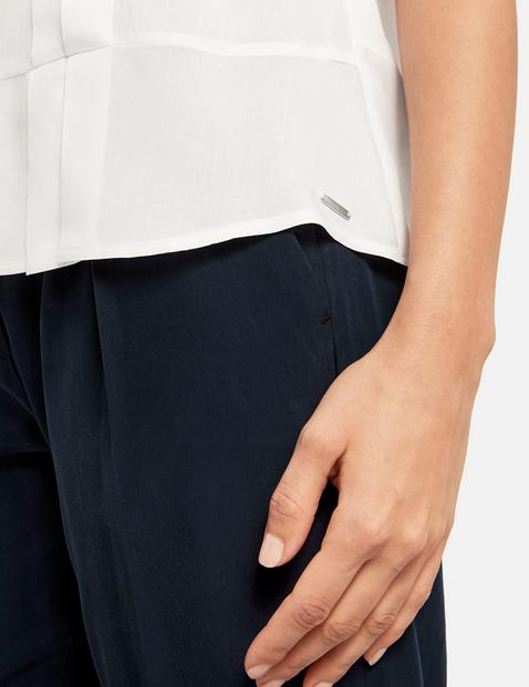 Bluzka z krótkimi rękawami i plisami