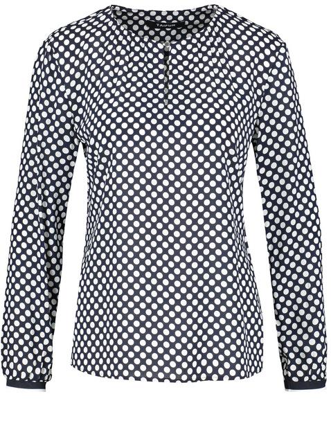 Blouse with a polka dot print