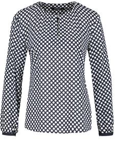 Gerry Weber Edition Shirt Polka Dots locker fallendem Kragen Damen NEU Größe 44