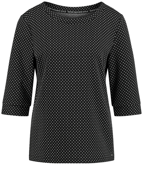 Jacquard-Shirt mit Pünktchen