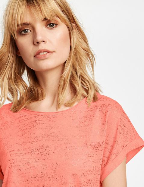 T-shirt met glitterend voorpand