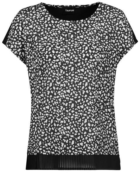 Blusenshirt mit Plissée-Saum