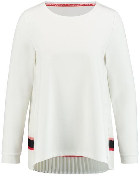 Shirt mit plissiertem Rücken