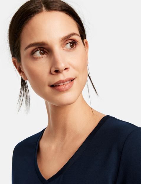 T-shirt with a V-neckline