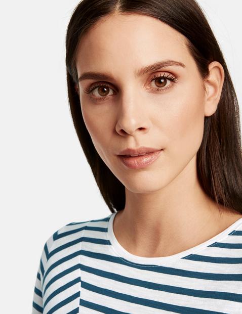Shirt mit Streifen-Dessin organic cotton