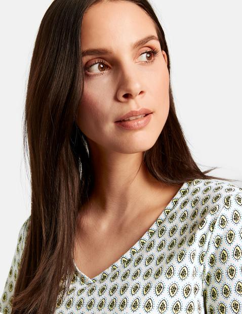T-shirt met print all-over organic cotton