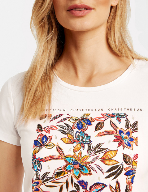Organic cotton top with a front print