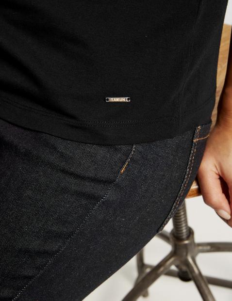 Basic-Shirt mit halbem Arm