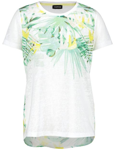 T-shirt met exotische print