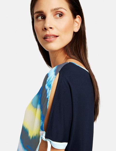 Blouse top with a batik pattern