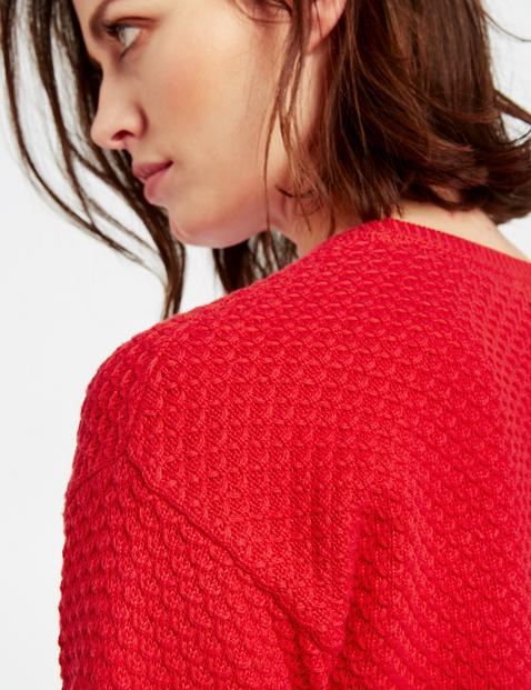 Bawełniany sweter z fakturą