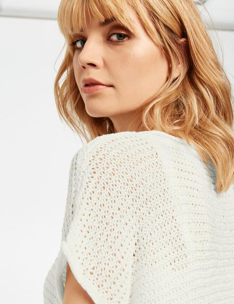 Kurzarm-Pullover aus luftigem Strick