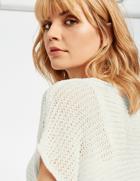 Short-sleeved jumper made of airy knit