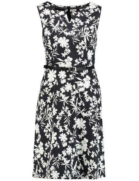 Ärmelloses Kleid mit Floral-Print
