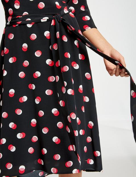 Sukienka midi z nadrukiem w groszki