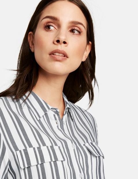 Hemdblusenkleid im Streifen-Design