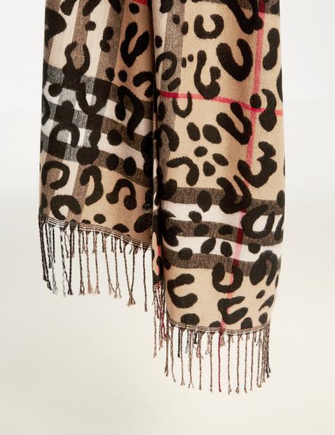 Zachte sjaal met motiefmix